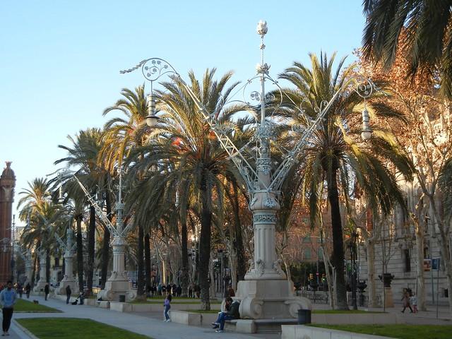 lightposts, Gaudi, Ciutadella Park, Barcelona