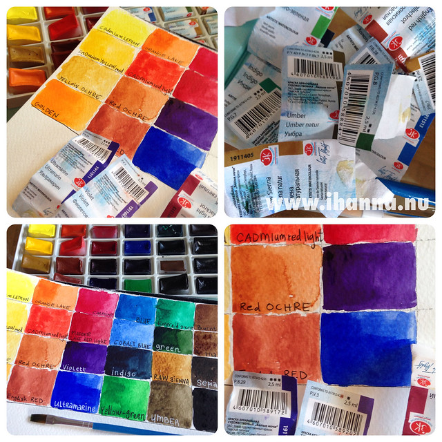 White Nights watercolor Swatches + Paint Pans