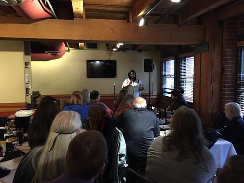 Monique Teal speaking to Seattle & Puget Sound Kos