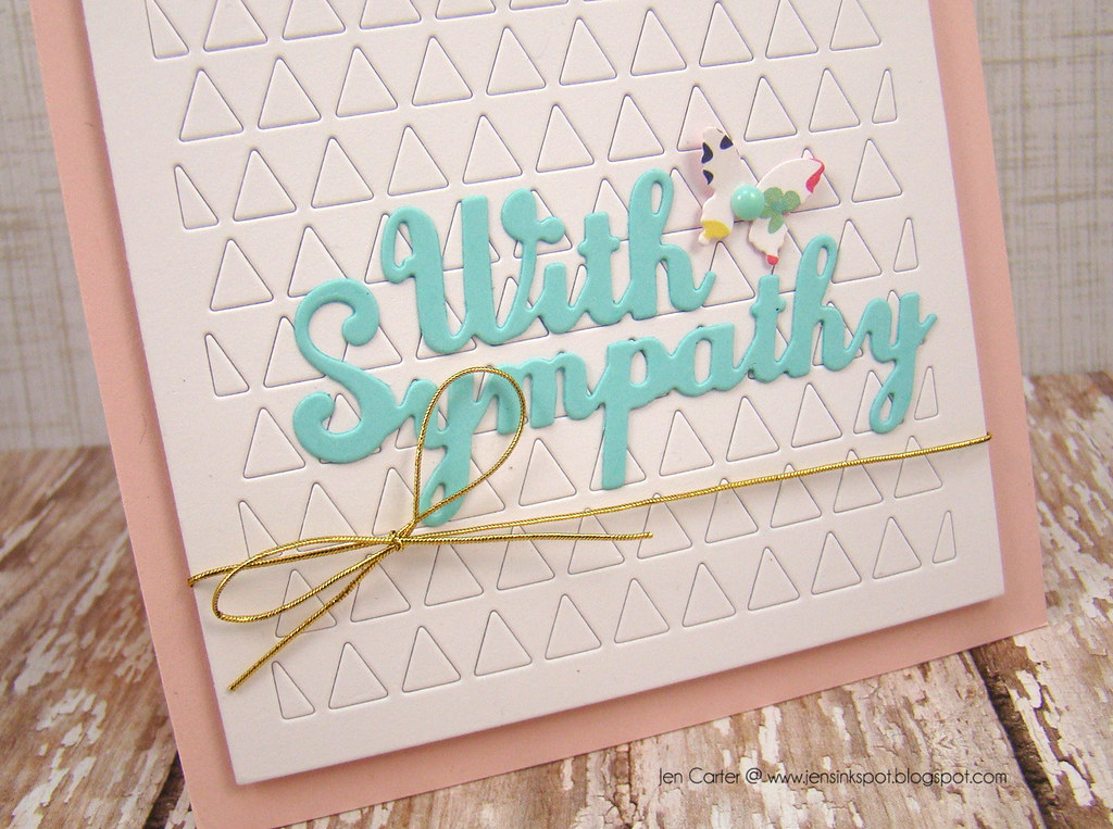 Jen Carter With Sympathy Triangles Frantic Stamper Pink Closeup Bottom