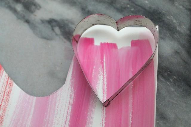 Watercolor hearts {diy} banner