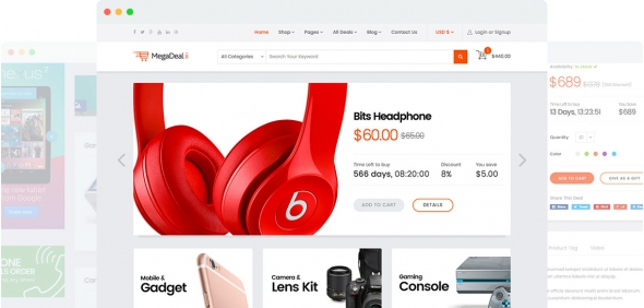 MegaDeal II v1.0.0 - Best Responsive Dealse Commerce Template for Joomla 3.x
