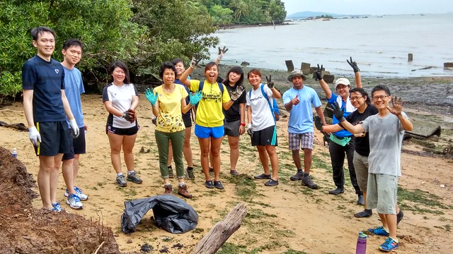 Coastal Clean Up with Marine Conservation Group, Nature Society (Singapore) for Pesta Ubin 2016