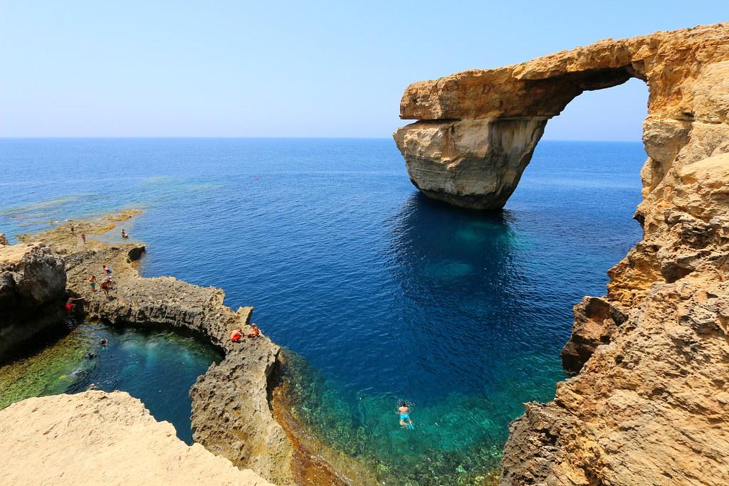 Azure window. Gozo, Malta