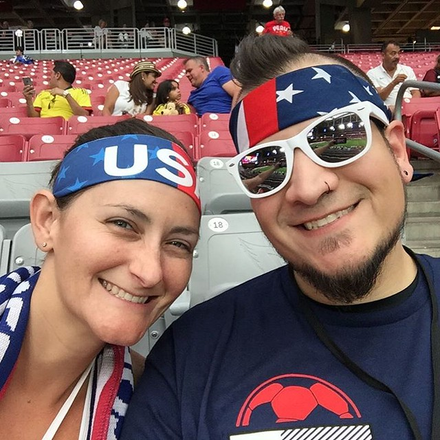 USA didn't pull it off but we still had a blast at our first professional soccer match. I see more in our future!