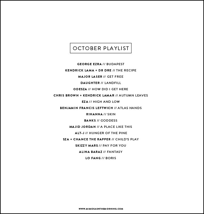 OCTOBER-PLAYLIST