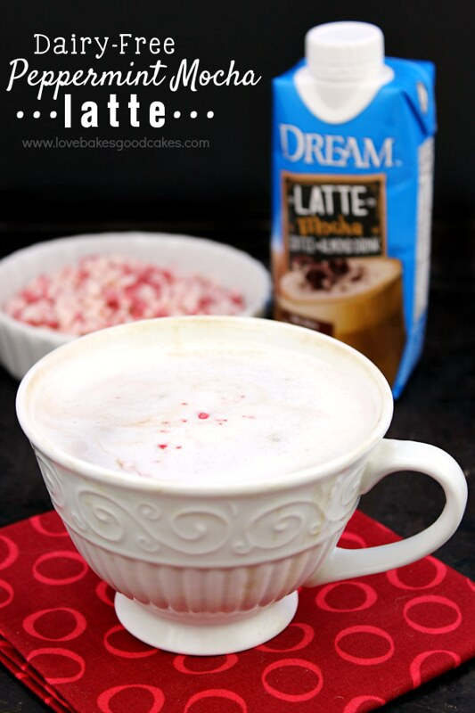 Dairy-Free Peppermint Mocha Latte - tastes just like the expensive coffeehouse drink! #DREAMLatte #ad