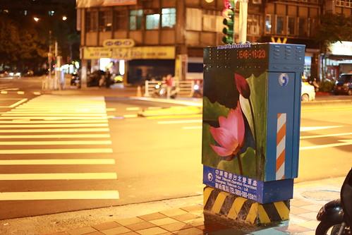 台湾・台北の夜の道