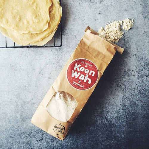 Bought some quinoa flour from @keenwah_au at Bondi markets this weekend... Not only is it less expensive than even bulk places it's ground really fine so my Quinoa Tortillas came out perfect! #shopsmall #foodfind ????