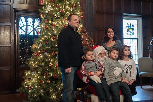 Christmas at Cabrini - alumni with Santa