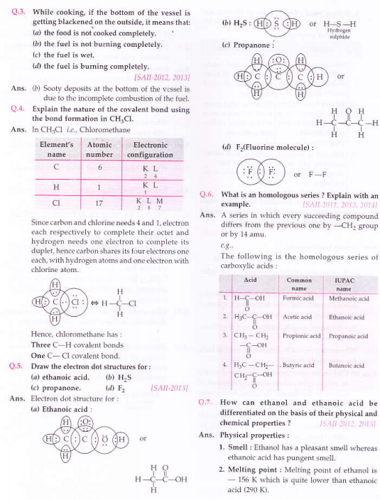 NCERT Solutions for Class 10th Science Chapter 4 Carbon and its compounds_5