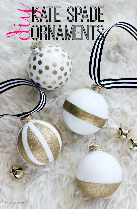 Hi Sugarplum | Kate Spade Inspired DIY Ornaments