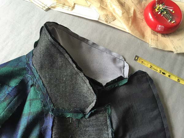 plaid jacket collar interfacing