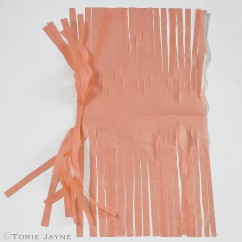 Tissue paper tassel garland tutorial 7
