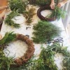 Fun time wreath making with the creative bunch. #wip #crafternoon #Christmas #wreath #foraging :herb: