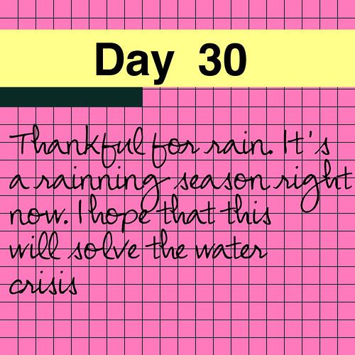 Day 30: Rain