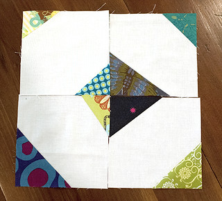 Scrappy Triangles Wonky Square