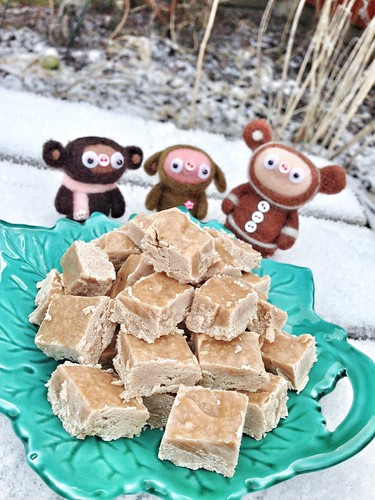 vegan peanut fudge