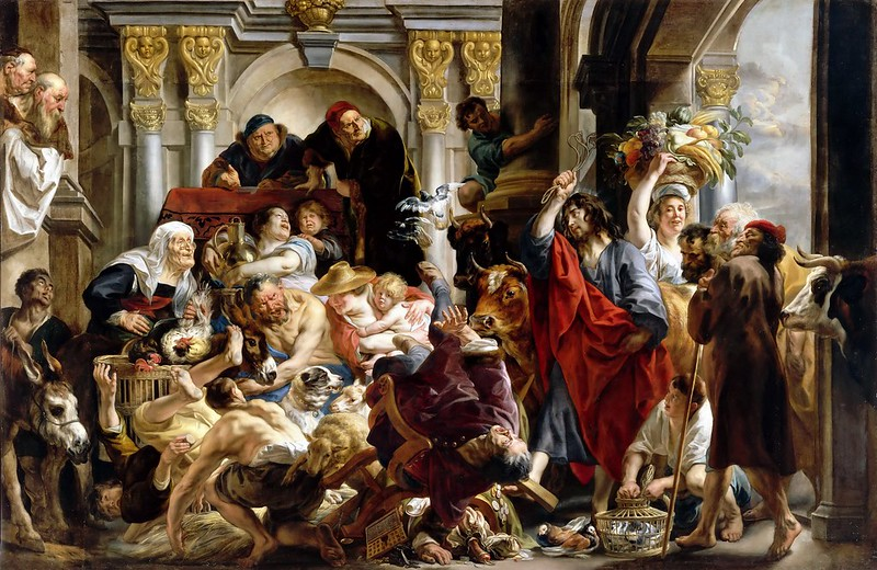 Jacob Jordaens - Jesus Driving the Merchants from the Temple (1645-50)