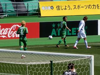 高橋選手と飯尾一慶選手。