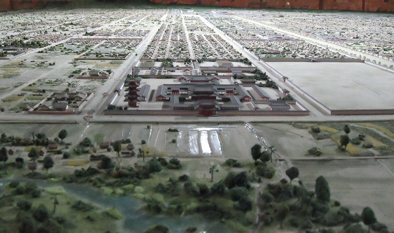 平安京の西寺 復元模型