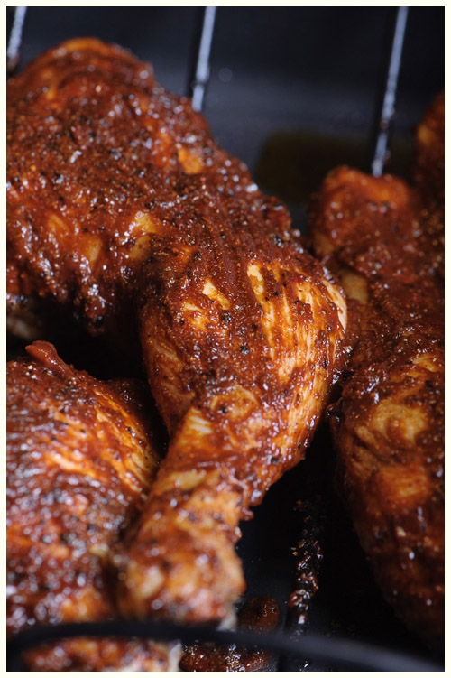 Roasted Chicken with BBQ Mole Sauce