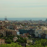 Barcelona, panorama depuis park Guell