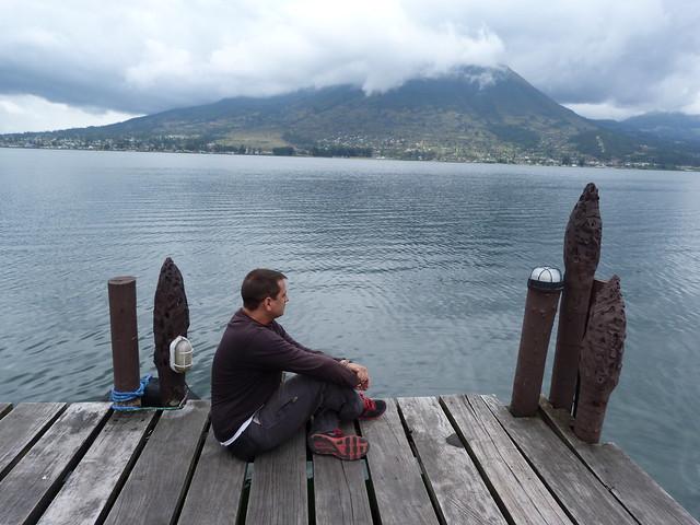 Sele en el Lago San Pablo (Otavalo, Ecuador)