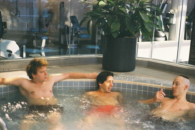At the Spa with Mac and Juan