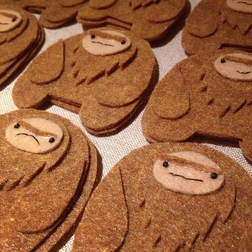 Currently: #sasquatch ornaments. #wip #nosleeptilxmas