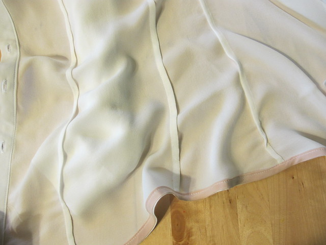 White Silk Double Georgette B5526