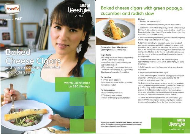 Rachel Khoo Baked Cheese Cigars Recipe