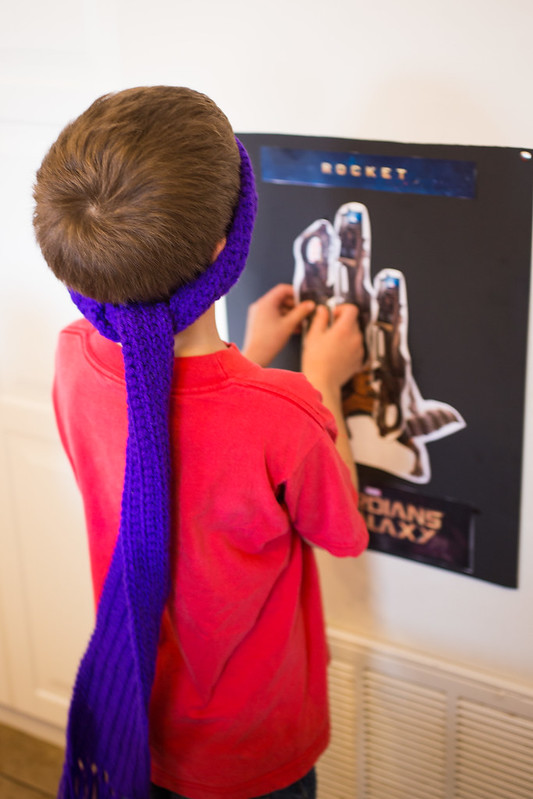Pin the Rocket on Rocket Raccoon