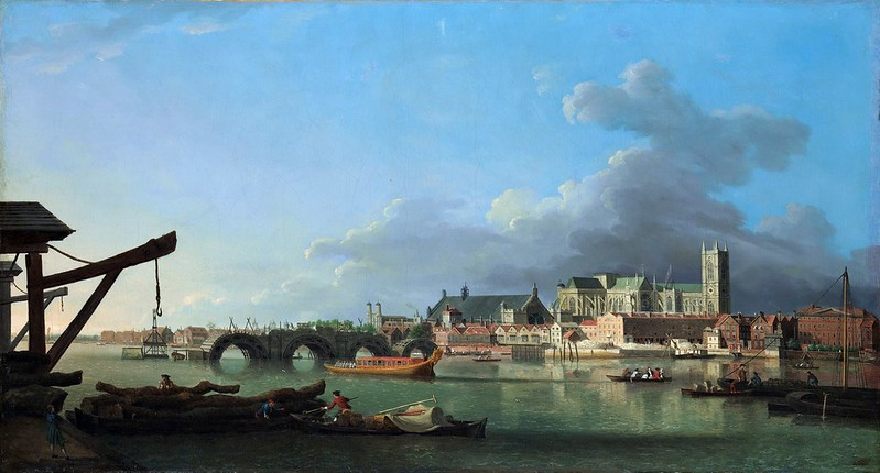 Samuel Scott - The Building of Westminster Bridge (c.1740)