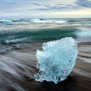 Breidamerkursandur. (N)Iceland.