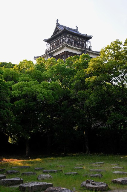 Hiroshima Castle and foundations