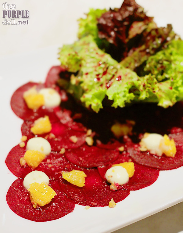 Beetroot Carpaccio (P300)