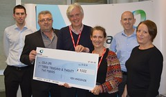 Cheque presentation - Amcor