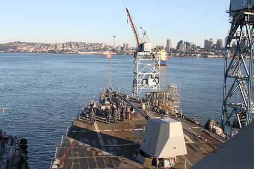 USS Momsen Departs Dry Dock, Returns to Naval Station Everett