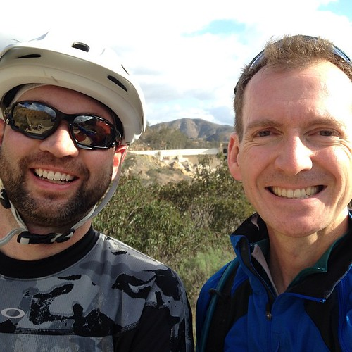 Last (?) mountain bike ride of the year with @rossmanges at Lake Hodges dam.