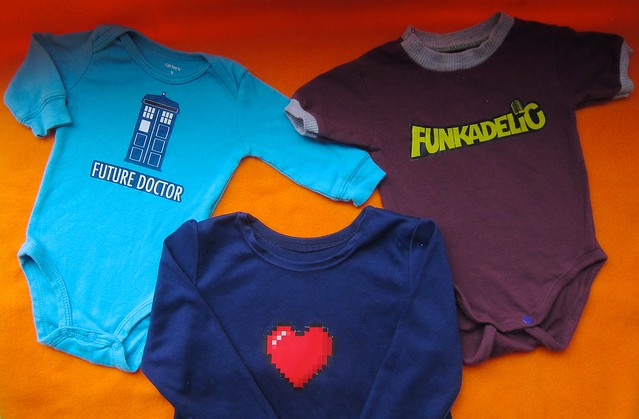 TARDIS, Funkadelic & Minecraft Heart T-shirt transfer fun
