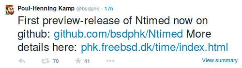 Ntimed - első preview kiadás