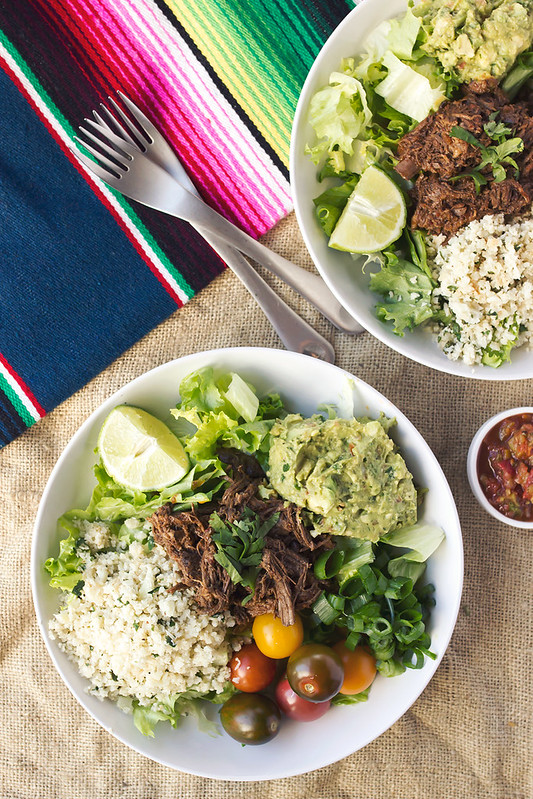 Chipotle Barbacoa Burrito Bowls with Cilantro Lime Cauli ...