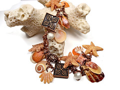 polymer clay Starfish & Florida shell Bracelet