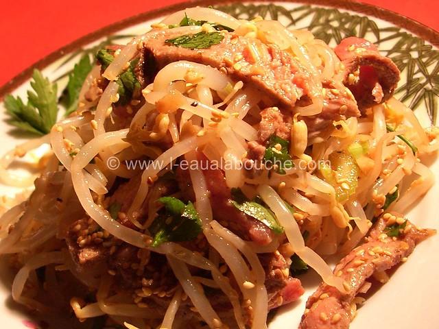 Salade de Boeuf Epicée aux Haricots Mungo © Ana Luthi