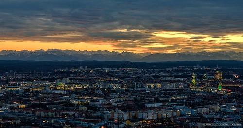panorama mountains alps germany munich münchen bayern bavaria lights twilight nikon cityscapes sunsets explore d750 olympiaturm olympiapark bavarianalps flickrexplore marchaegeman nikon70200mmf28vr