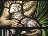 Detail of the Jesus Restoring Peter Pane in the Ezekiel Oddy Stained Glass Memorial Window; St Kilda Presbyterian Church - Corner Barkley Street and Alma Road, St Kilda