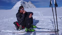 Podejście na szczyt Pigne d Arola. Nasz przewodnik Ian.