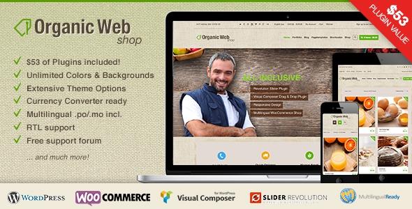 Organic Web Shop v2.5.1 - A Responsive WooCommerce Theme