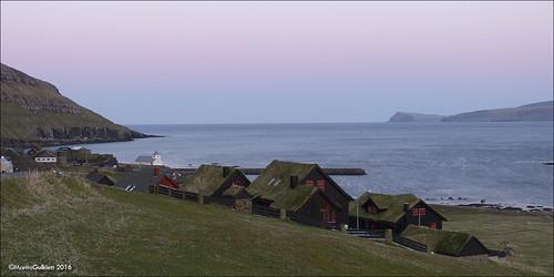 sunset landscape coast faroeislands føroyar sólsetur streymoy kirkjubøur maritagulklett panasoniclumixdmcfz150